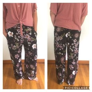 H&M Floral Wide Leg Pants